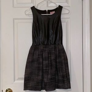 Leather and Tweed Formal Dress